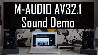 M-Audio AV32.1 Sound Demo