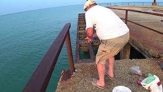 Рыбалка на черном море осенью с берега