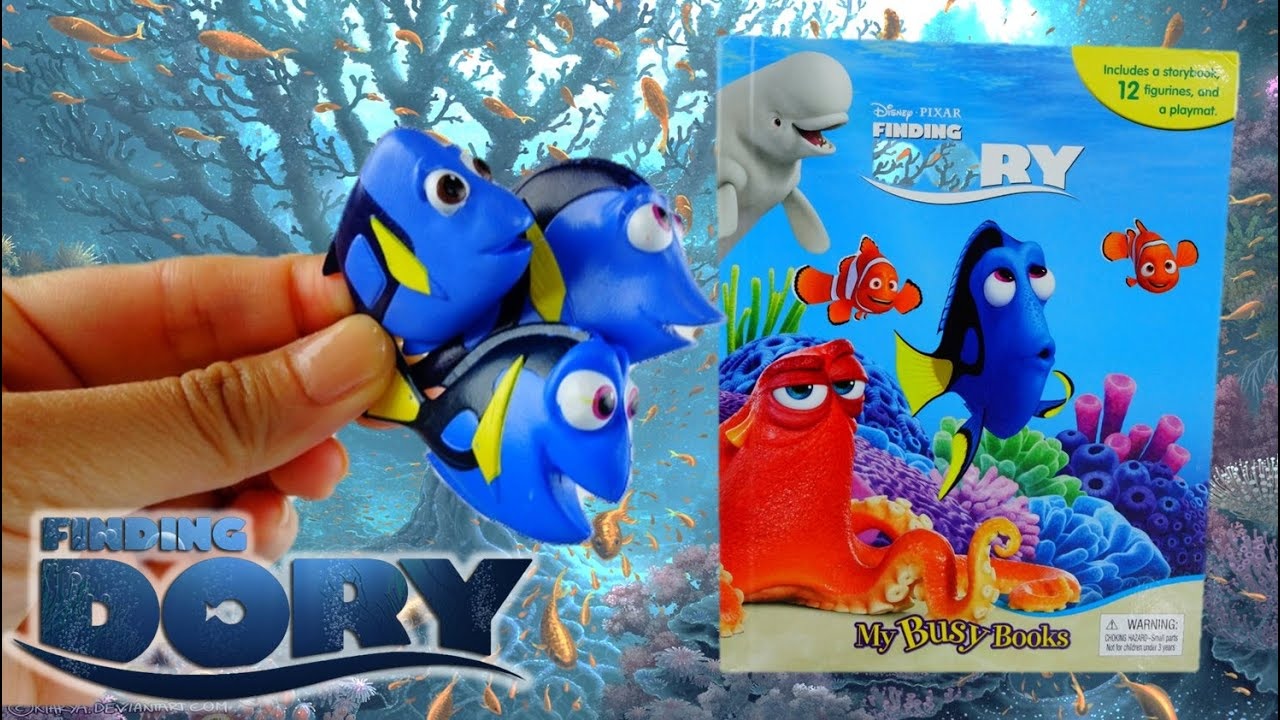 FINDING DORY - My Busy Book Playset with Playmat and Figurines