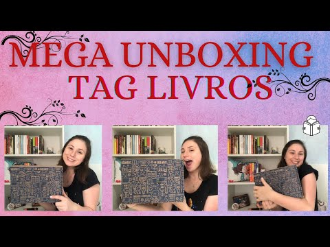 MEGA UNBOXING TAG LIVROS -  BOOK WEEK