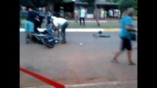 preview picture of video 'acidente ocorrido em coronel sapucaia. part.1'