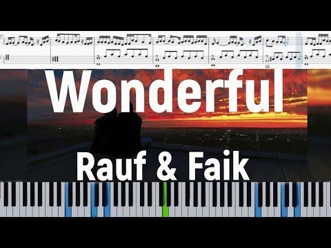 Rauf & Faik - Wonderful (Ноты на пианино)