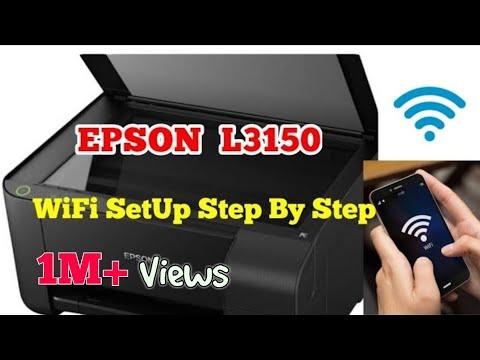 Epson printer wi-fi setup || SSID & PASSWORD - смотреть