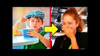 """The waitress was """"rude"""" to a boy who had no money... Later, she saw the receipt and started CRYING.."""
