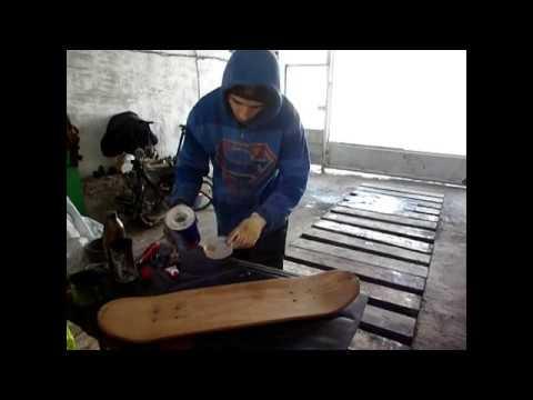 подробный ремонт и покраска деки доски скейта