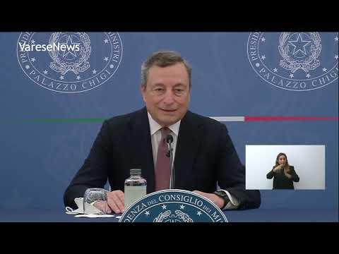 """Coronavirus, Draghi: """"Sì ad obbligo vaccinale, vigliacche le violenze no vax"""""""