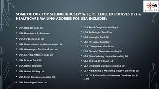 USA Business Email List | USA Executives Mailing Database | B2B Contacts<
