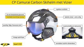 CP Camurai Carbon Skihelm met Vizier - Simply the Best !