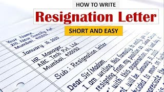 How to write resignation letter | Learn to Write Resignation letter in English