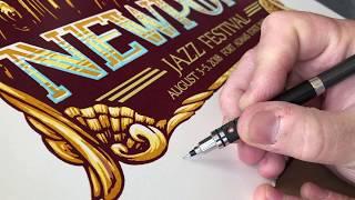 Newport Jazz Festival - A Gigposter Process Video