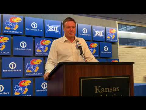 Bill Self speaks to reporters ahead of Monmouth