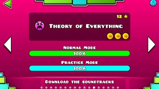 Geometry Dash - Theory Of Everything 100% Complete