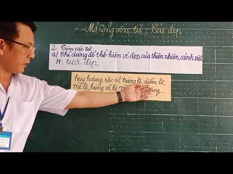 Môn LTVC lớp 4, bài Mở rộng vốn từ: Cái đẹp (GV Trương Ngọc Cẩn, Trường TH C Phú Mỹ)