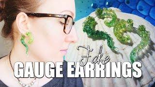 Fake Gauge Earrings For Mermaids