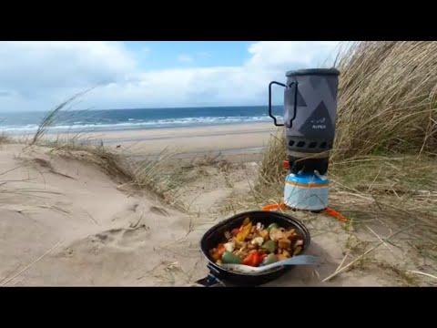 Alpkit Brukit Wolf Camping Cooking Ideas Camping Gas Stove Cooking Chicken Mushrooms And Peppers
