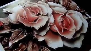"""ПАПЕРТОЛЬ """"Карамельные розы"""" (готовая работа)"""