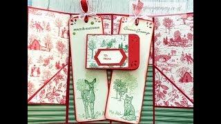 Christmas journal insert, tag & gift card holder