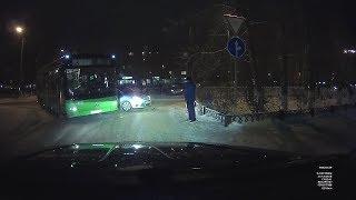Подрезал автобус. Северодвинск.