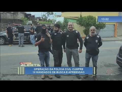 Operação policial combate o tráfico de drogas em Araújos