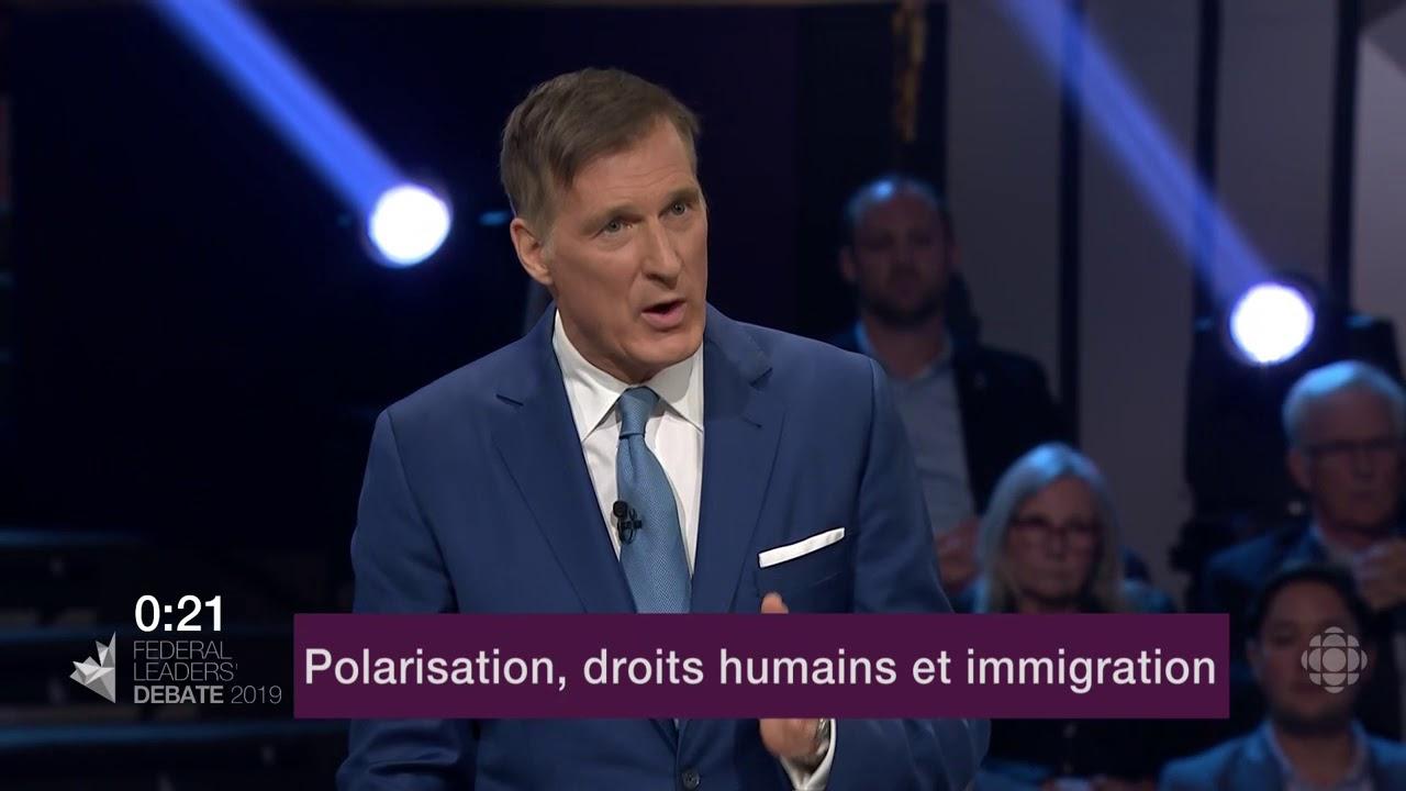 Maxime Bernier répond à la question d'un citoyen sur les divisions au Canada