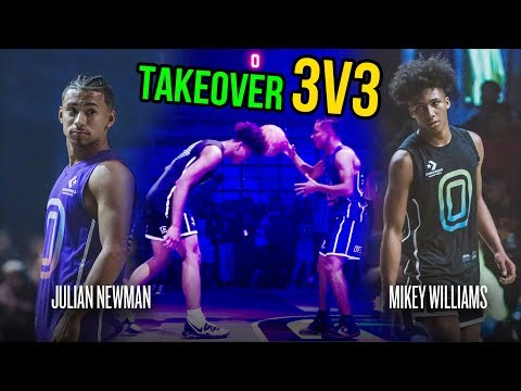 Julian Newman Throws Ball Off Mikey Williams' Head, Then Mikey GOES OFF! Julian Challenges Kyree 😱