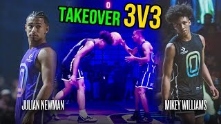 Julian Newman Throws Ball Off Mikey Williams' Head, Then Mikey GOES OFF! Julian Challenges Kyree 