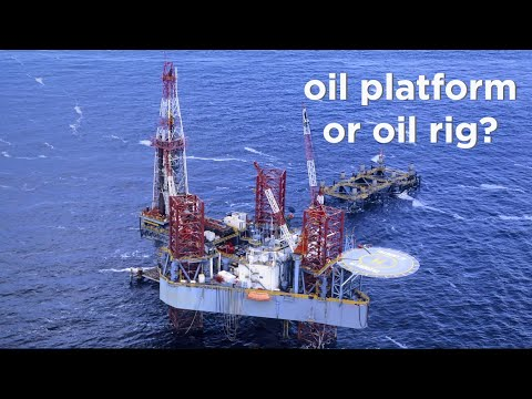 the difference between an oil rig and oil platform