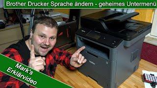 Drucker Sprache ändern - geheimes Untermenü - Brother Drucker