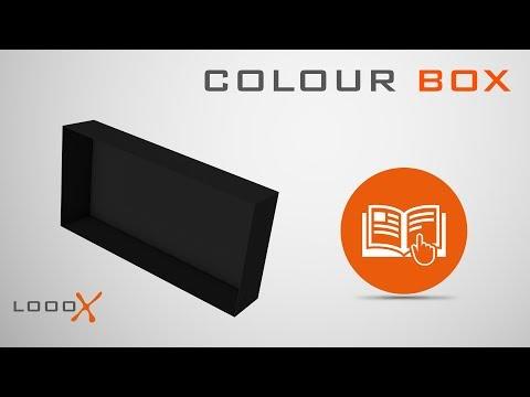 Looox Colour Box in-opbouwnis - 30x30cm - antraciet