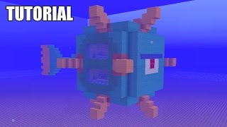 Minecraft Tutorial: How To Make A UNDERWATER GUARDIAN!! Survival House (ASH#40)