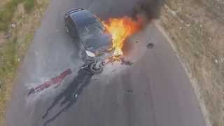 Мото Аварии 2015 Смерть на двух колесах #1 (Motorcycle Accidents 2015 Death on two wheels # 1)