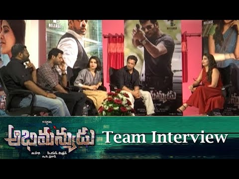 abhimanyudu-movie-team-interview