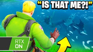 I Trolled Him With RAY Tracing In Fortnite!