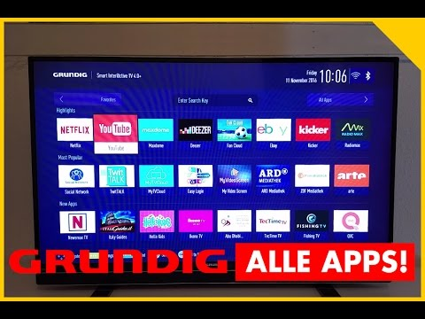 GRUNDIG SMART TV APPS! Grundig SmartTV 43 GFB 6621 Test - Smart TV Application Store Testbericht
