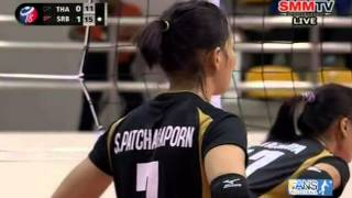 Thailand - Serbia [Set 2] Girls' U18 World Championship 28-07-2013