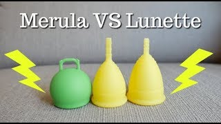 Merula Vs Lunette, menstrual cup comparison