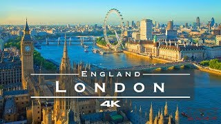 London, England 🇬🇧 - By Drone [4K]