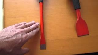 Инструмент для конопатки швов сруба деревянного дома, ш.25 мм от компании ЭКО-ДОМ - видео