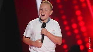 Robbie Sings Hey Soul Sister | The Voice Kids Australia 2014