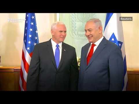 Pence Meets Netanyahu In Jerusalem
