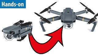 Falt-Drohne: DJI Mavic Pro im Hands-on / Test-Flug in 4K (UHD)   deutsch / german