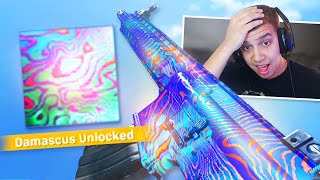 I FINALLY UNLOCKED DAMASCUS CAMO In MODERN WARFARE..(reaction)