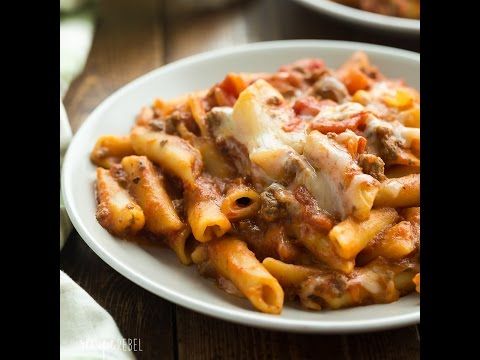 Video Slow Cooker Baked Ziti Recipe