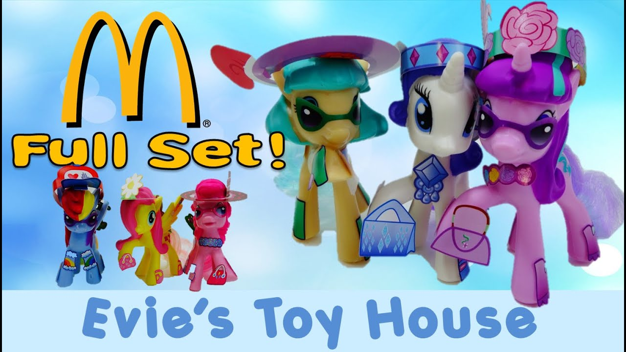 2016 McDonald's Happy Meal Toys Color Changing My Little Pony FULL SET | Evies Toy House