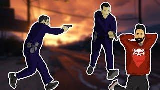 GTA 5 Bank Robbery Epic Fail Ft. Cosmic YT & Yuna Gaming