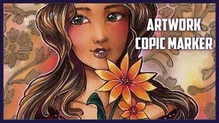 Hippie Chic - Copic Marker Artwork By Sakuems