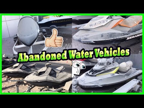 Abandoned Hydrocycles Sea Doo In Dubai. Abandoned Strange Mini Submarine In Dubai. Lost Vehicles