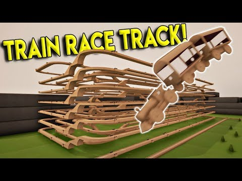 ULTIMATE TRAIN RACE TRACK & NEW TOWN! - Tracks- The Train Set Game Gameplay- Stunts & Crashes