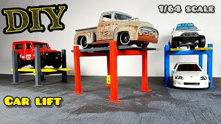 4 Post Car Lift For Hot Wheels Garage 1/64 Diorama How To