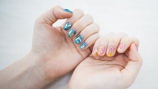 Howto เพ้นท์เล็บสวยๆ สไตล์ glass nail